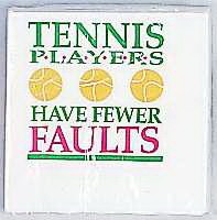 Tennis Cocktail Napkins