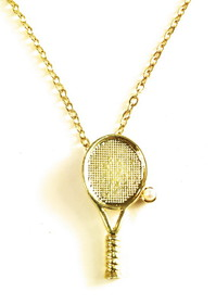 Gold Plated Tennis Racquet Bracelet