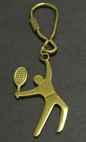 Polished Brass Player Key Ring