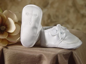 Little Things Mean A Lot 2CRBAS - Boys Satin Shoe with Celtic Cross