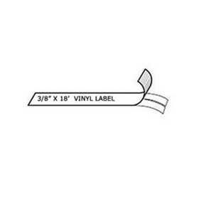 Rhino 18443 Vinyl Labels White 3/8in x 18' for Labelers