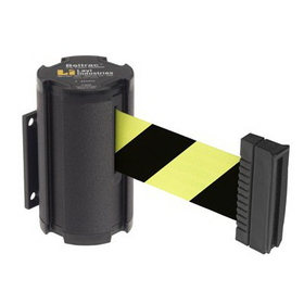 Beltrac Wall-Mount Retractable Belts - Black/Yellow Belt, BB918, Price/Each