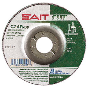 "SAIT 1/8 "" Cutting/Notching/Light Grinding Concrete, dt 4-1/2 x 3/32 x 7/8 c24r, Price/25"