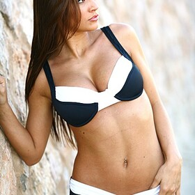 Ujena M205 Black and White Calypso Bikini