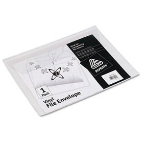 File Envelope, Jacket, Letter, Vinyl, Clear, Price/EA