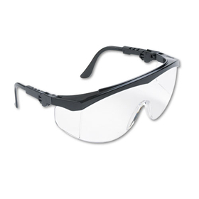 Tomahawk Wraparound Safety Glasses, Black Nylon Frame, Clear Lens, Price/BX