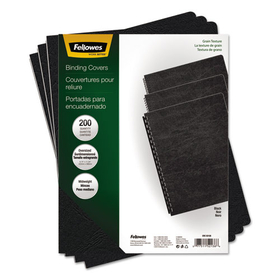 Classic Grain Texture Binding System Covers, 11-1/4 x 8-3/4, Black, 200/Pack, Price/PK
