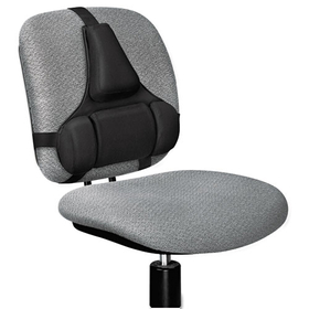 Professional Series Back Support, Memory Foam Cushion, Black, Price/EA