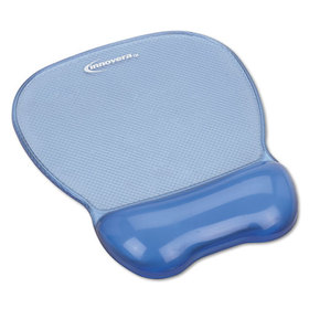 Gel Mouse Pad w/Wrist Rest, Nonskid Base, 8-1/4 x 9-5/8, Blue, Price/EA