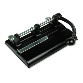 "40-Sheet Lever Action Two- to Seven-Hole Punch, 13/32"" Holes, Black, Price/EA"