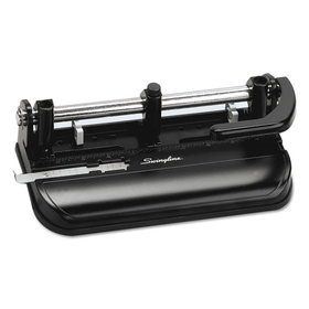 32-Sheet Lever Handle Two- to Seven-Hole Punch, 9/32&quot; Holes, Black, Price/EA