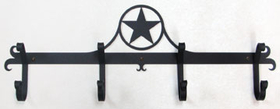 Village Wrought Iron  CB-144  Western Star Coat Bar, Price/Each