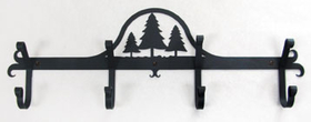Village Wrought Iron  CB-20  Pine Trees Coat Bar, Price/Each