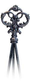 Village Wrought Iron  NTR-127  Victorian Nat. Tripod Trelli, Price/Each