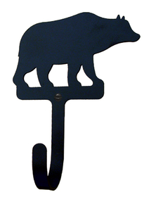 Village Wrought Iron  WH-14-L  Bear Wall Hook LG, Price/Each