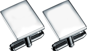 Visol Armada Silver Plated Pair Of Cuff Links, Price/Pair