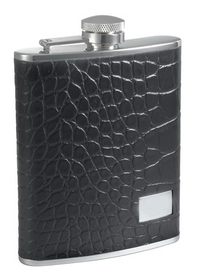 Visol Beau Monde Leather 6 oz Flask