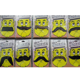 Assorted Mood Mustaches, Price/10 PCS