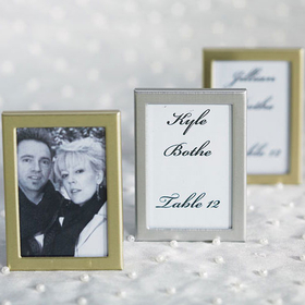 Weddingstar 8055-77 Easel Back Mini Photo Frame - Brushed Silver, Price/Packags of 3