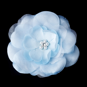 Elegance by Carbonneau BQ-4908-LtBlue Light Blue Bold Bridal Flower BQ 4908