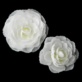 Elegance by Carbonneau Clip-404-Diamond-White Elegant White or Ivory Bridal Hair Clip Pair - Clip 404