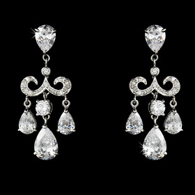 Elegance by Carbonneau E-1576 Gorgeous Chandelier Crystal Drop Earrings E 1576