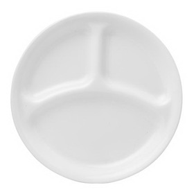 CORELLE 1050513 Livingware Winter Frost White 10-1/4&quot; Divided Dinner Plate