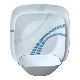 CORELLE 1083206 Square Ocean Arc 16-pc Set