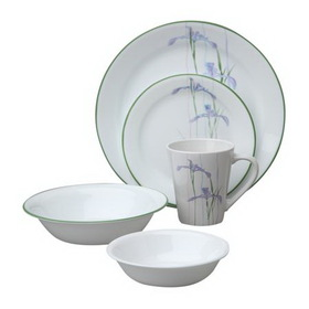 CORELLE 1088663 Impressions Shadow Iris 30-pc Set