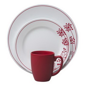 CORELLE 1089392 Vive Berries and Leaves 16-pc Set
