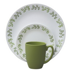 CORELLE 1089407 Livingware Neo Leaf 16-pc Set