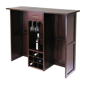 Winsome 94350 Wood Newport Wine Bar Expandable Counter