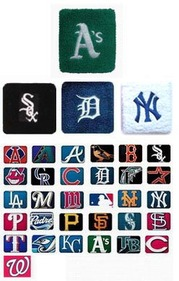 Wristband / Sweatband with MLB Team Logo (Price for PIECE)